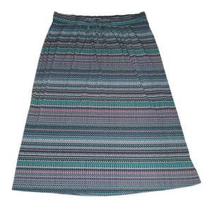 Lane Bryant Maxi Skirt Blue Mosaic Stretch 26 28
